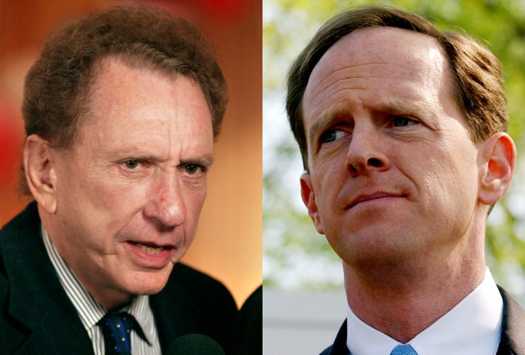 Sen. Arlen Specter, left,was challenged by Rep. Pat Toomey, right, who called Specter a RINO (Republican In Name Only).