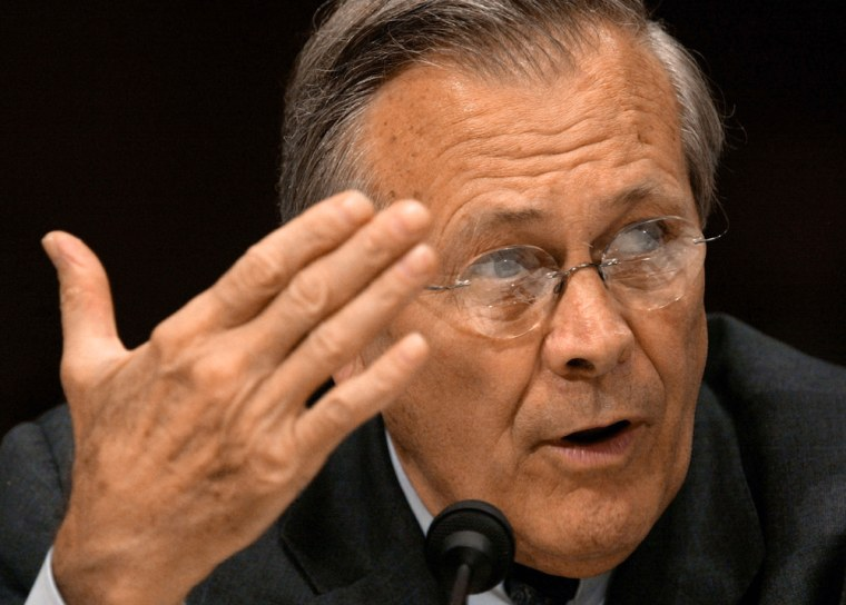 Defense Scretaru Rumsfeld Reports To Congress on Iraq Situation