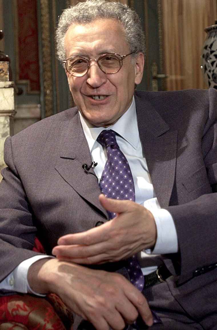 U.N. special envoy Lakhdar Brahimi.