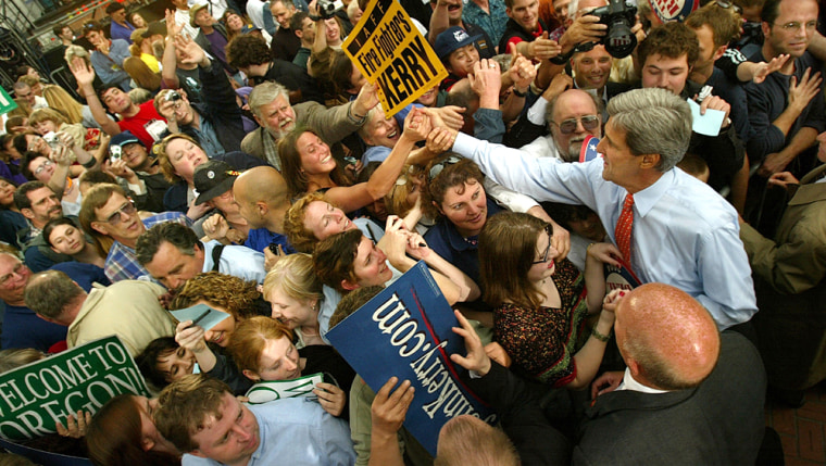 Democratic Presidential Candidate John Kerry Campaigns