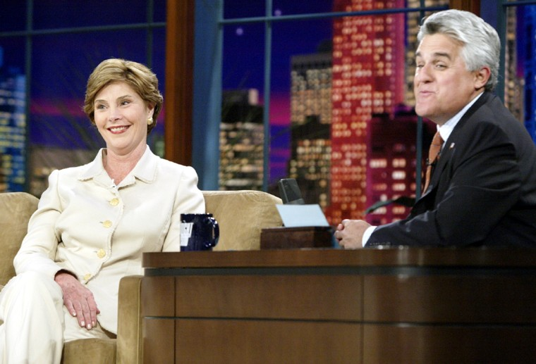 US FIRST LADY LAURA BUSH ON THE TONIGHT SHOW WITH JAY LENO