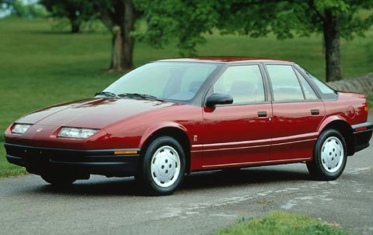 The 1995 Saturn SL topped the most-stolen list based on thefts versus the number of models registered.