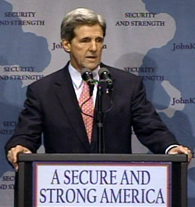 Sen. John Kerry delivers his foreign policy address Thursday in Seattle.