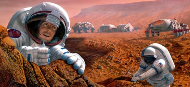 Astronauts on Mars will have to don lightweight spacesuits that offer protection against radiation and sandstorms.