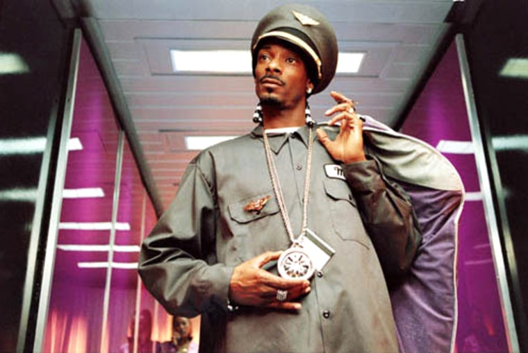 "Rapper ""Snoop Dogg"" in a scene from the movie ""Soul Plane."""