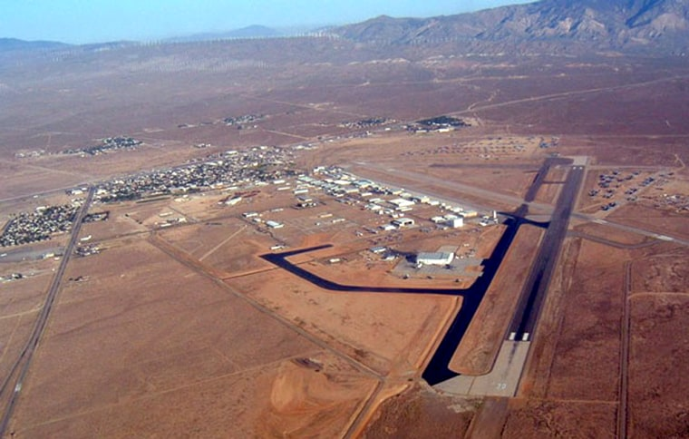 The Mojave Airport, shown in this aerial photo, is headed for spaceport status.