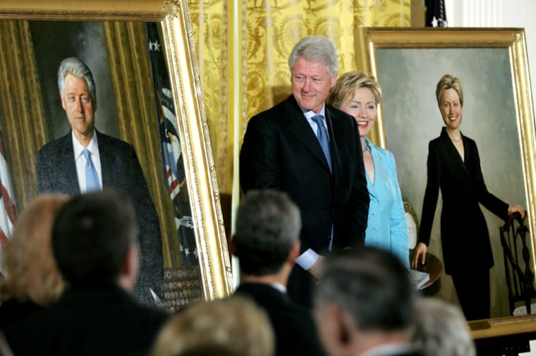 FORMER PRESIDENT CLINTON UNVEILS PORTRAIT TO HANG IN WHITE HOUSE
