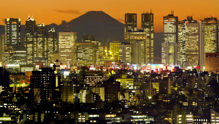 FILE PHOTO OF TOKYO'S SKYLINE AND MOUNT FUJI