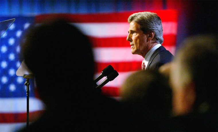 Kerry Campaigns In New Jersey