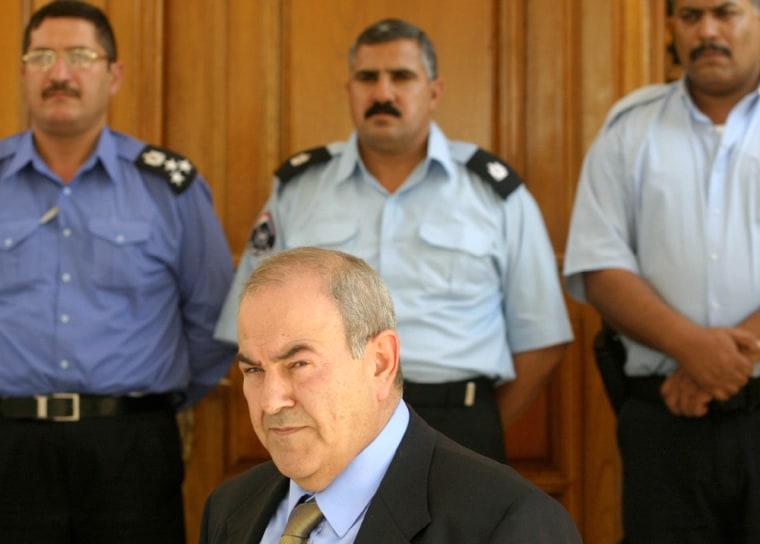 Iraq's interim Prime Minister Iyad Allaw