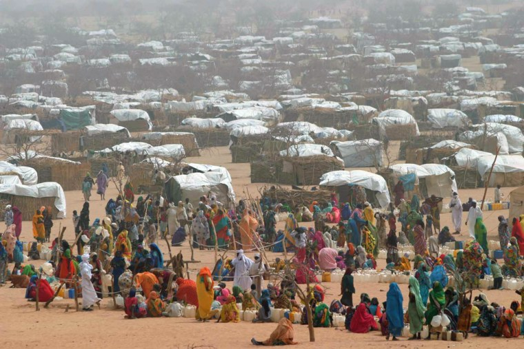 Thousands of Sudanese refugees have fled to camps such as this one in neighboring Chad.