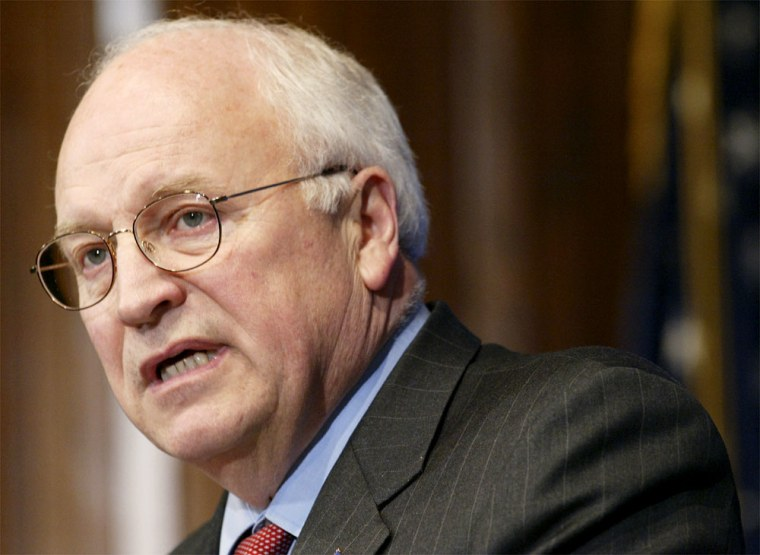 FILE PHOTO Vice President Cheney Presents The Gerald Ford Journalism Awards