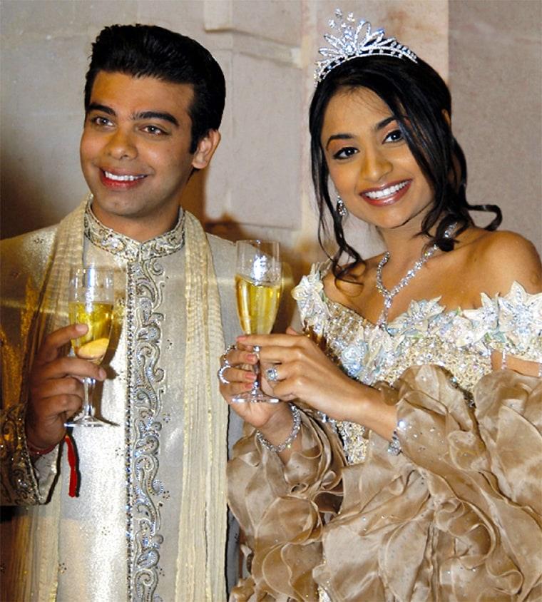AMIT BHATIA AND VANISHA MITTAL CELEBRATE EXCHANGE OF RINGS IN PARIS
