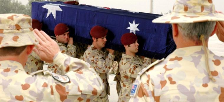 Pvt. Jake Kovco casket