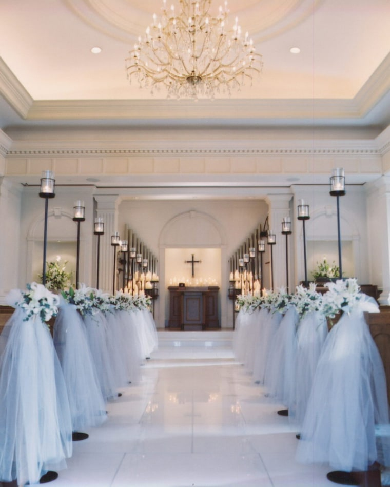 The luxe in-house chapel at the Ritz-Carlton, Osaka. For a mere $1 million price tag, the happy couple and their guests can just about have full run of the hotel's amenities.