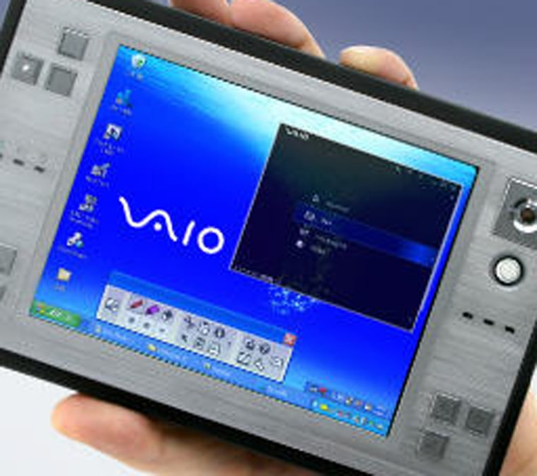 Sony Vaio's U50 and U70 computers weigh little more than a pound, butare full-fledged Windows XP machines nontheless.