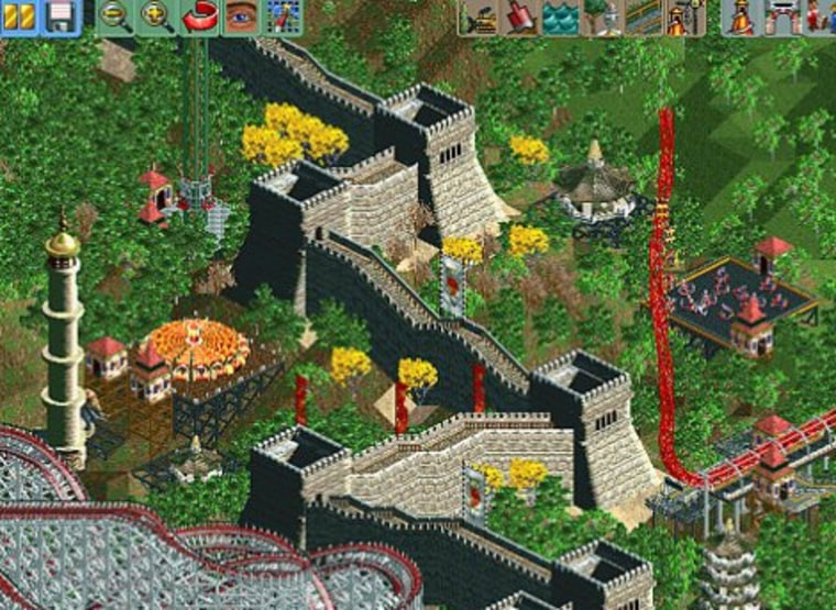 """Older games, such as thetwo-year-old """"Rollercoaster Tycoon 2,"""" which letsusers create their own exotictheme parks, are popular with on demand game players."""