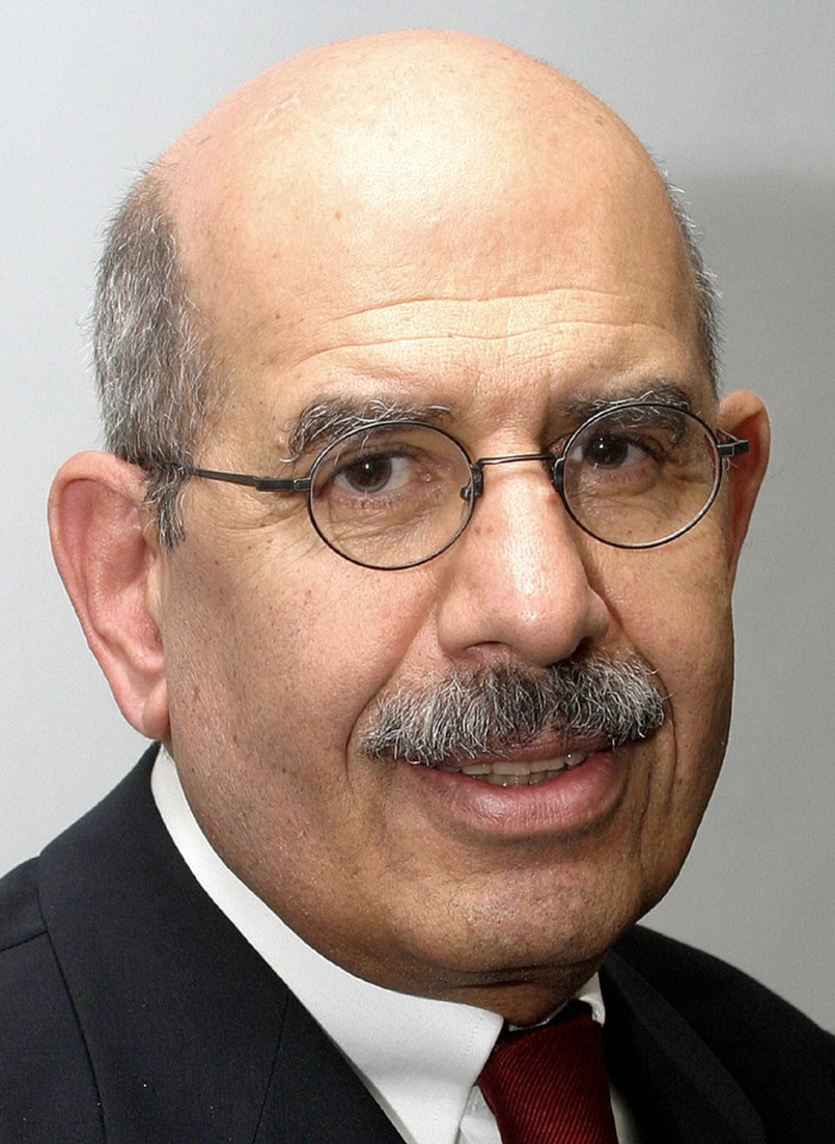 INTERNATIONAL ATOMIC ENERGY AGENCY CHIEF MOHAMED ELBARADEI ATTENDS A MEETING IN JERUSALEM