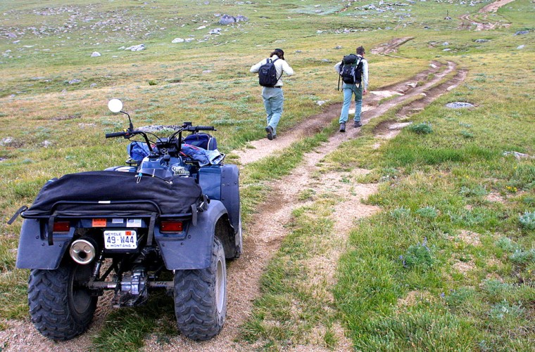 Off-road vehicles like this ATV in a Forest Service area outside Ennis, Mont., face new limits under an agency proposal.