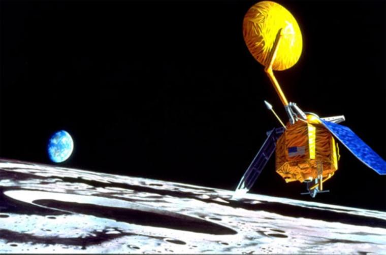 An artist's illustration of a potential design for the Lunar Reconnaissance Orbiter.