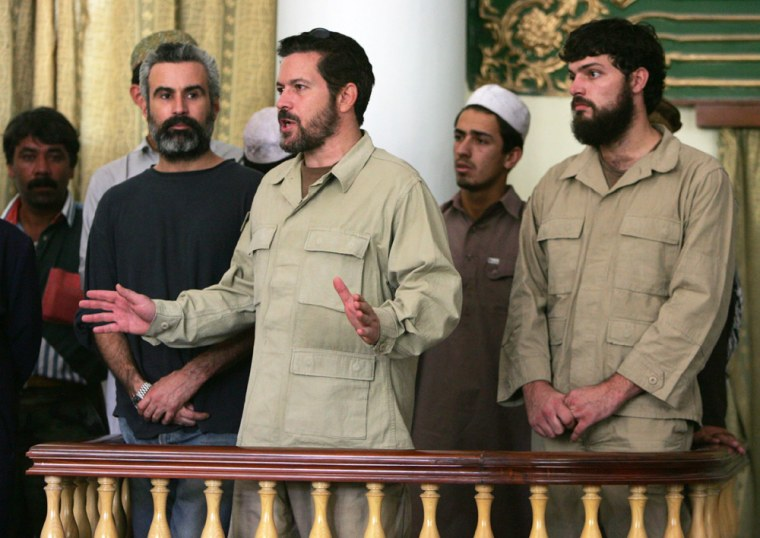 U.S. suspect Jonathan Keith Idema speaks in court in Kabul