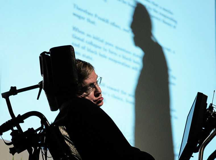 Cosmologist Stephen Hawking expands on his altered theory about black holes at a science conference in Ireland