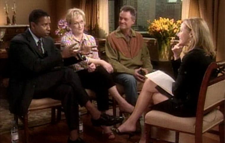 Denzel Washington, Meryl Streep and Jonathan Demme talk with NBC's Katie Couric.