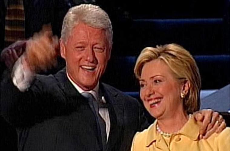 Former President Bill Clinton and Sen. Hillary Rodham Clinton of New York gave spirited arguments to elect Sen. John Kerry.