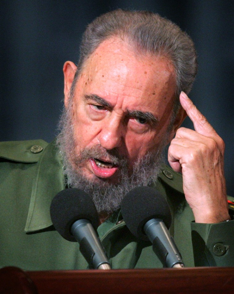 Cuban President Castro delivers speech during Moncada anniversary