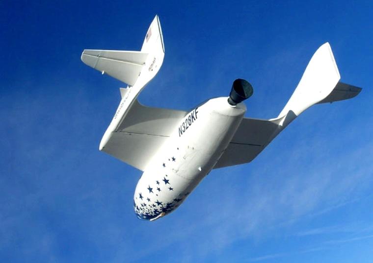 SPACESHIPONE FLIES DURING TEST FLIGHT