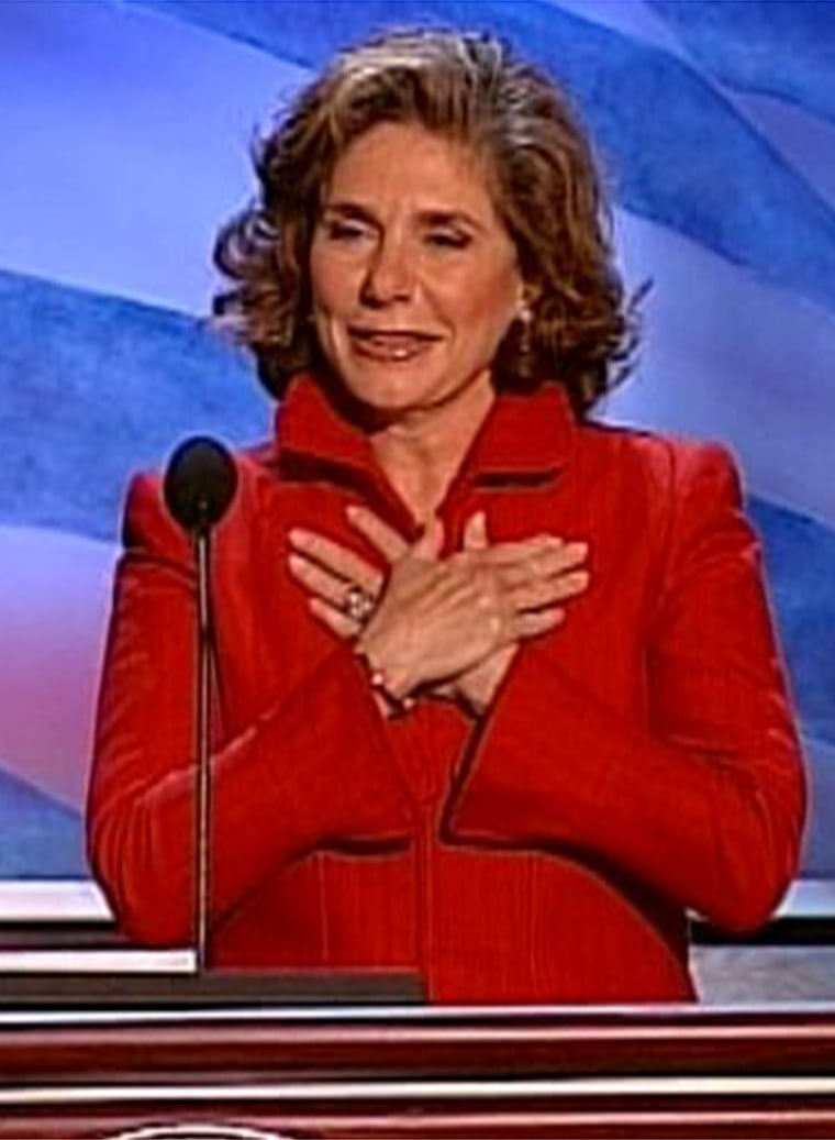 """""""By now, I hope it will come as no surprise to anyone that I have something to say,"""" Teresa Heinz Kerry said."""