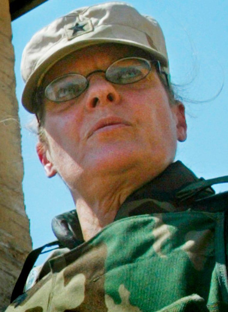 FILE PHOTO OF BRIGADIER GENERAL KARPINSKI OUTSIDE ABU GHRAIB PRISON