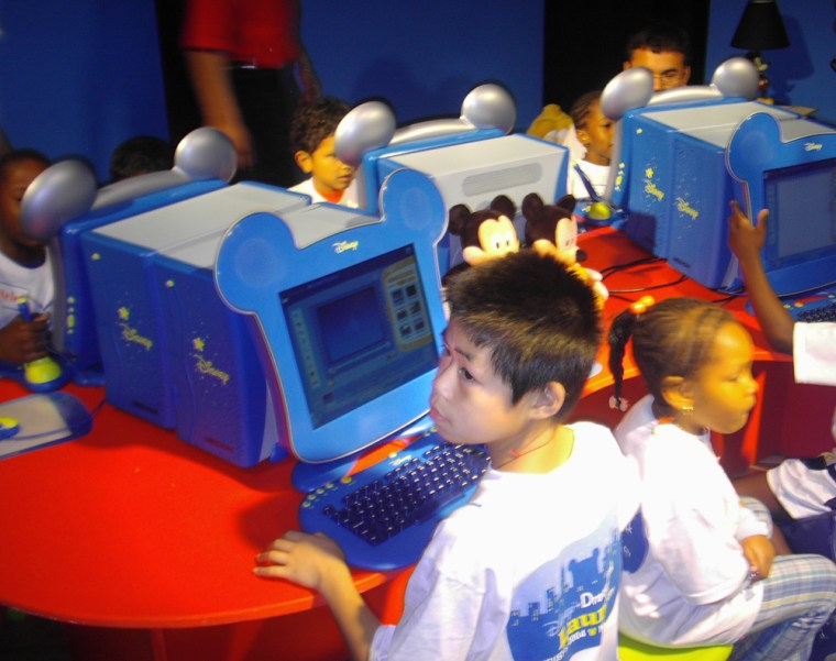 At the New York City launch, neighborhood kids took to the new Disney PCs without much prodding.