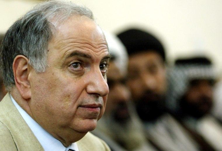 AHMED AL-CHALABI MEETS RELIGIOUS LEADERS IN NAJAF