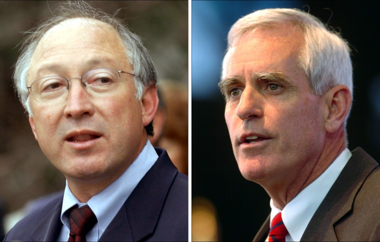 Colorado Attorney General Ken Salazar, left, is the Democrats' choice tovie with Republican Pete Coors for the open Senate seat in Colorado.