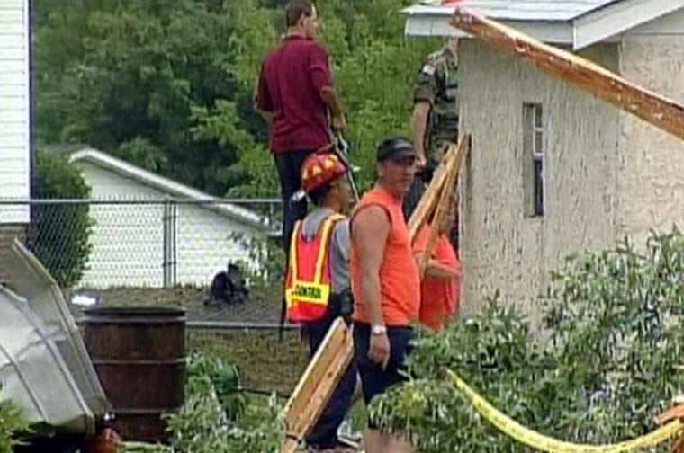 Repairs were being made Friday in some NorthCarolinacommunities after areas were hit byremnants of Tropical Storm Bonnie.