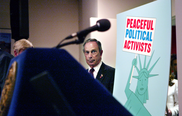"""Mayor Michael Bloomberg: """"It's no fun to protest on an empty stomach."""""""
