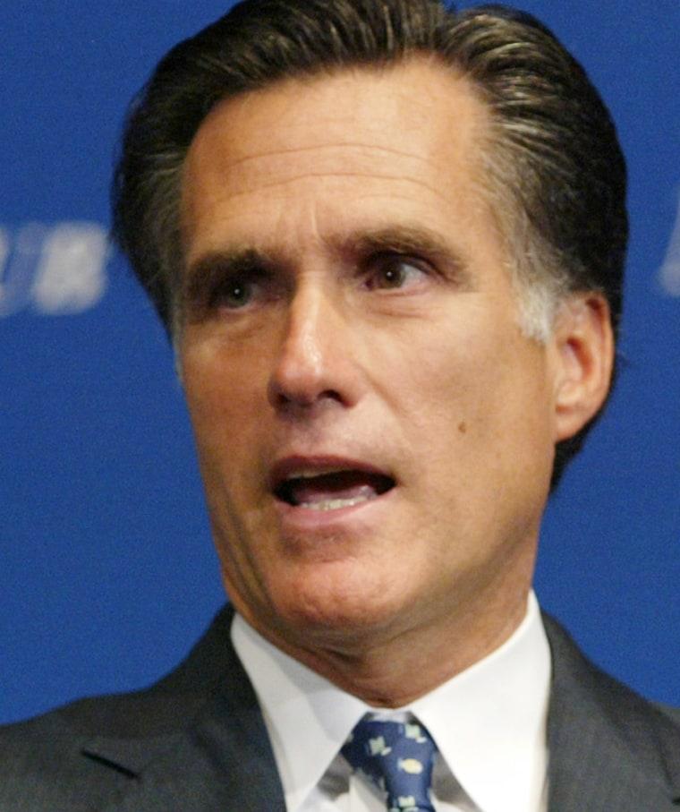 Massachusetts Gov. Mitt Romney.