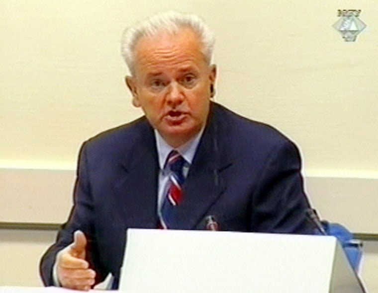 Moving to end repeated trial delays, the U.N. war crimes tribunal ruled Thursday it will impose a defense lawyer on Slobodan Milosevic, pictured here in court, whose doctors say his heart condition could become life threatening if he continues to represent himself.