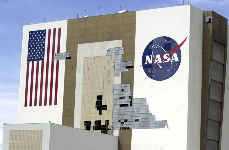 Hurricane Frances ripped external panelsoff the Vehicle Assembly Building where space shuttles are prepared for flight. But NASA officials believe Hurricane Ivan will pass far enough away to spare Kennedy Space Center from further significant damage.