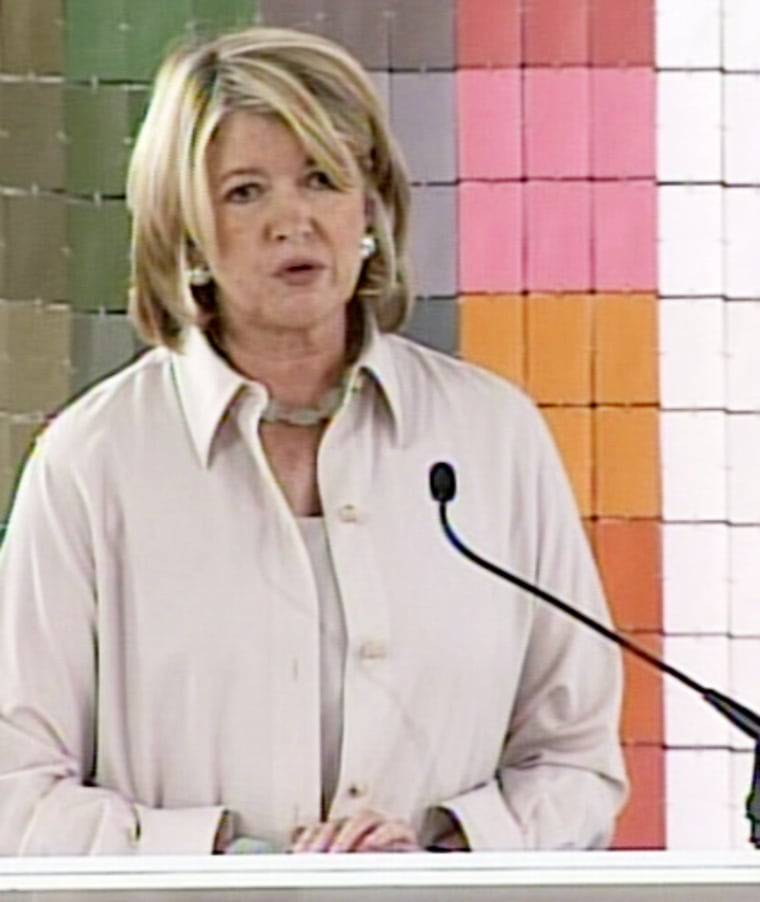 """""""I look forward to getting this behind me and to vigorously pursuing my appeal,"""" Martha Stewart, pictured earlier this month, saidWednesday."""