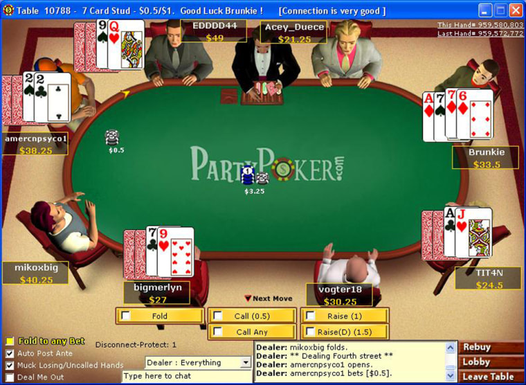 The author's avatar, upper right, squares off with its bald-headed nemesis, upper left, and three other players.