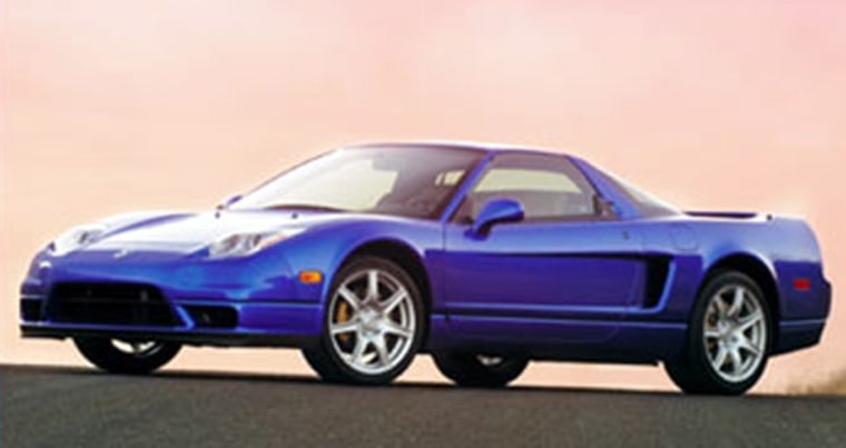 The 2004 Acura NSX has a suggested retail price of nearly $90,000, though Acura dealers are offering a $5,000 incentive to make way for '05 models.