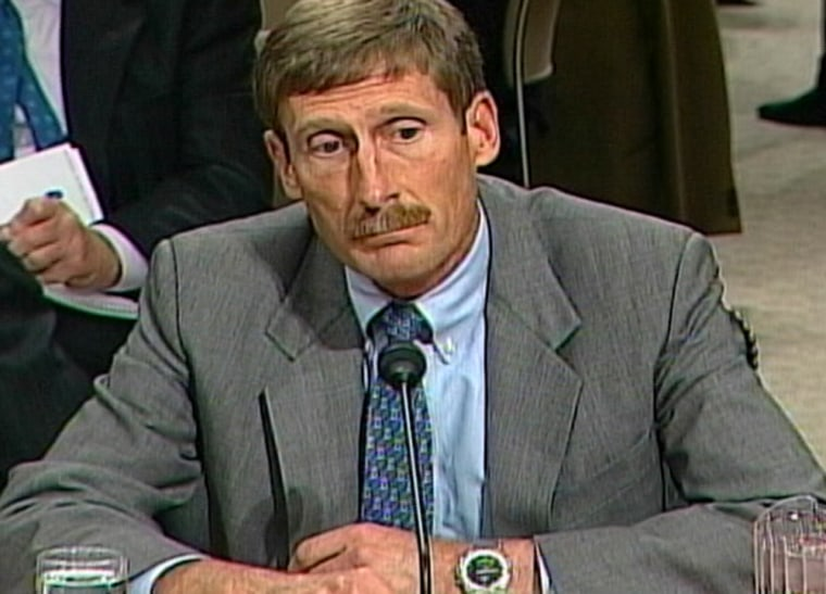Charles Duelfer, head of the Iraq Survey Group, testifies Wednesday before the Senate Armed Services Committee.