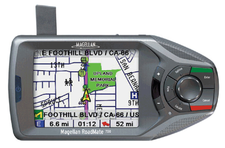 Magellan's RoadMate has a large screen which makes maps easy to read.