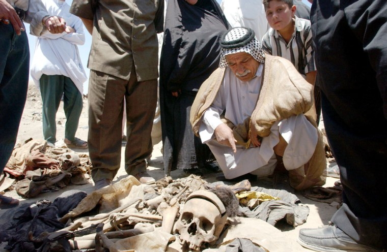 Mass Grave Of Victims Unearthed From Iraqi Soil