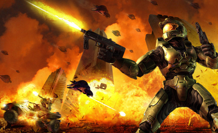 """Screen shot from """"Halo 2."""""""