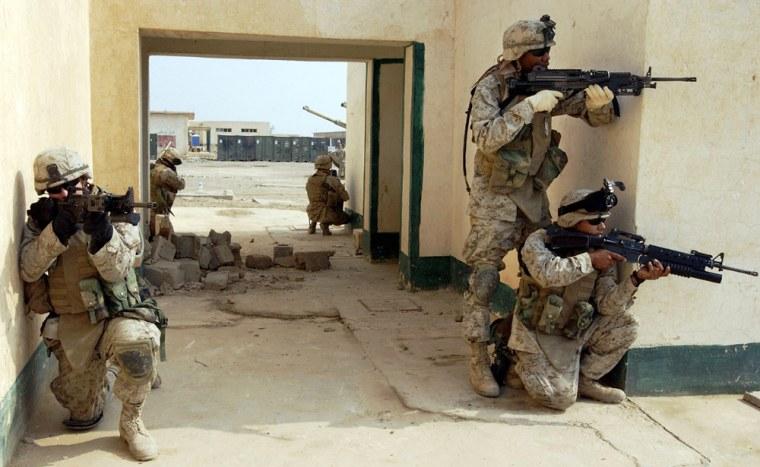 U.S. Marines Train For Possible Fallujah Offensive