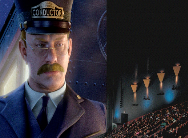 """The ultra-big-screen, 3-Dversion of """"The Polar Express"""" is identical in content to the 2-D version, with Tom Hanks taking on the roles of the Conductor and four other characters.The3-D version takes advantage of some classic tricks of the medium, however."""