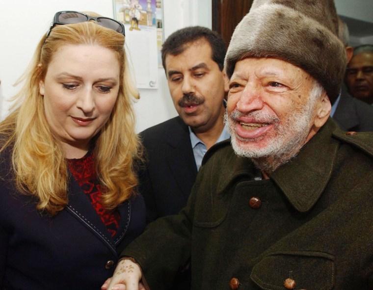 Yasser Arafat Departs West Bank For Paris Hospital